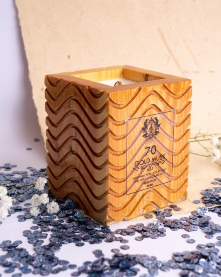 Liverich Soy Candle Gold Musk